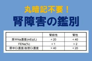腎前性腎不全と腎性腎不全の見分け方